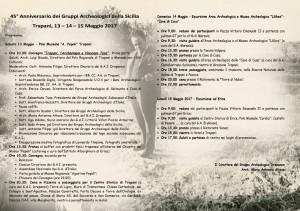 45 anniversario G.A. d'Italia della Sicilia - programma